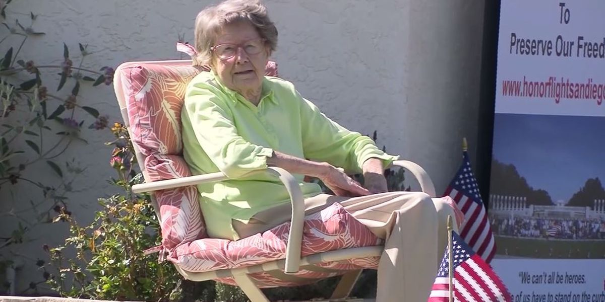 Oldest female Marine in Calif. celebrates 104th birthday with drive-by party due to coronavirus