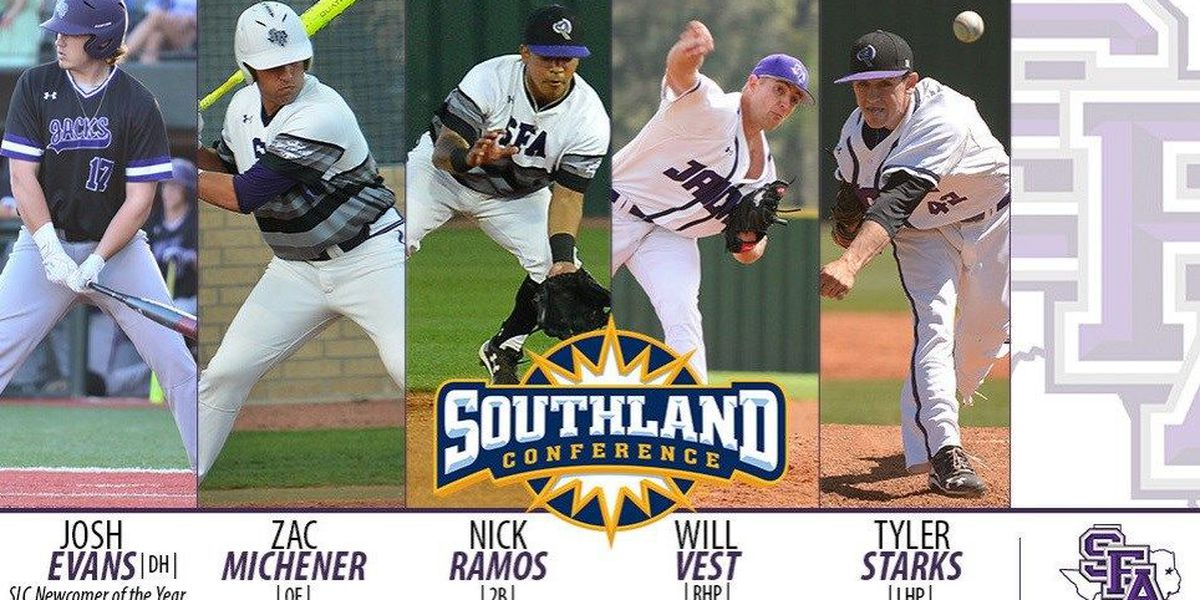 Five 'Jacks earn All-Southland Conference Honors, Evans Named Newcomer of the Year