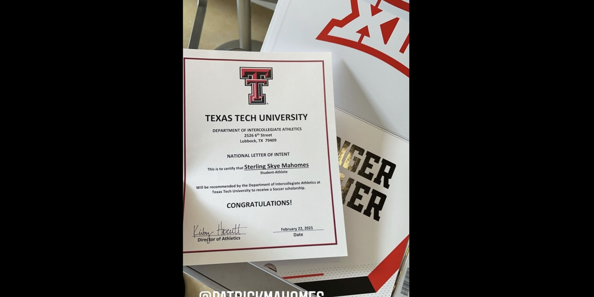 Patrick Mahomes' daughter receives Letter of Intent to Texas Tech