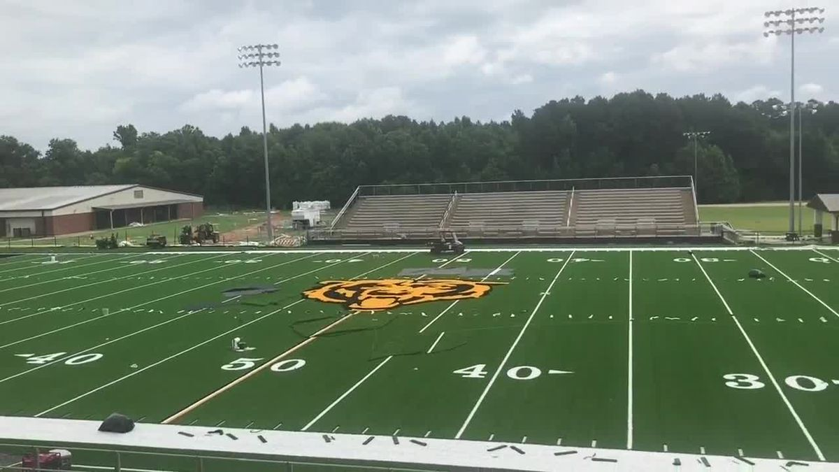 Timpson High School installs new turf field ahead of 2020-21 sports season