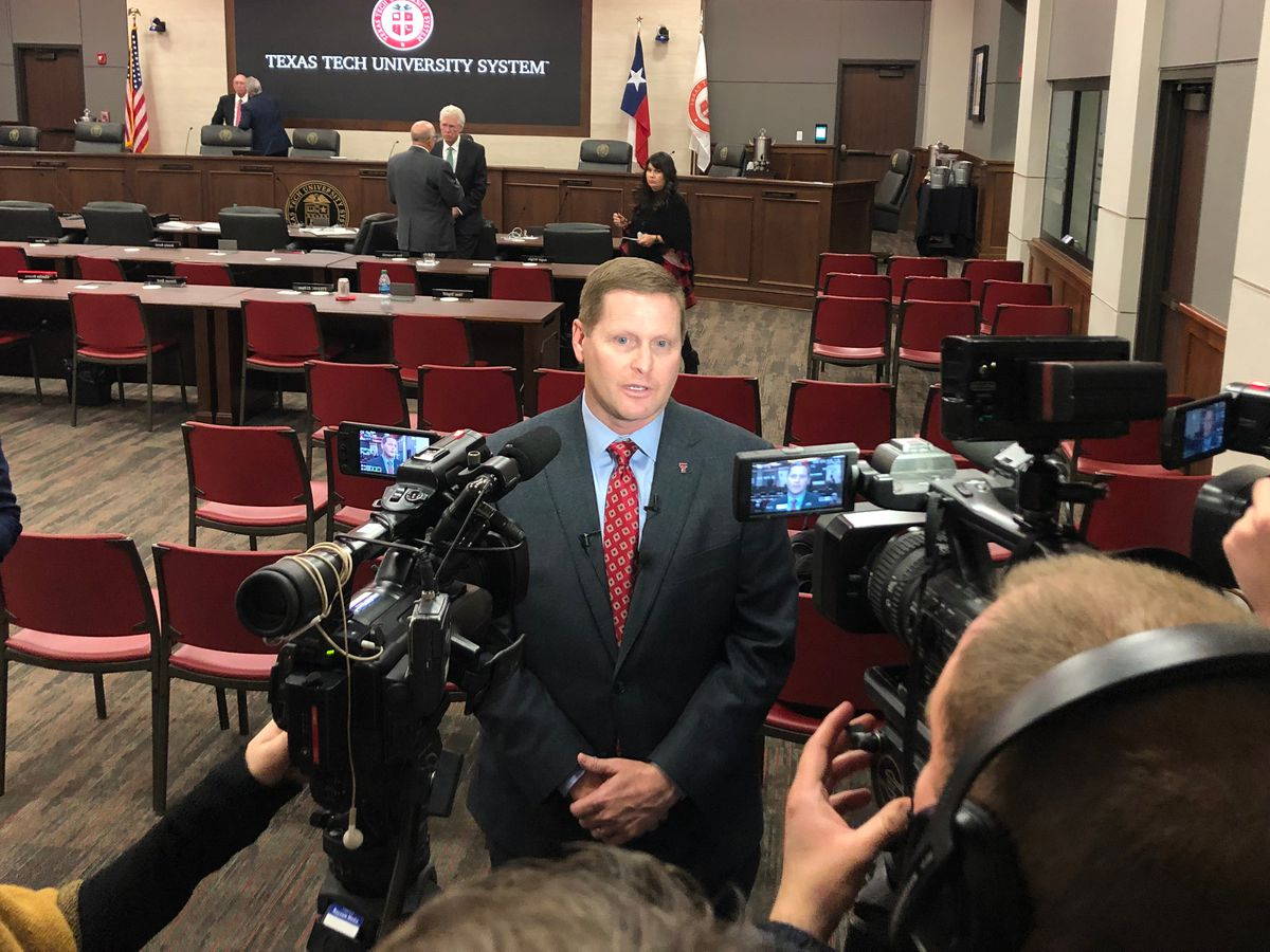 Texas Tech University Athletics Director Kirby Hocutt signs new contract