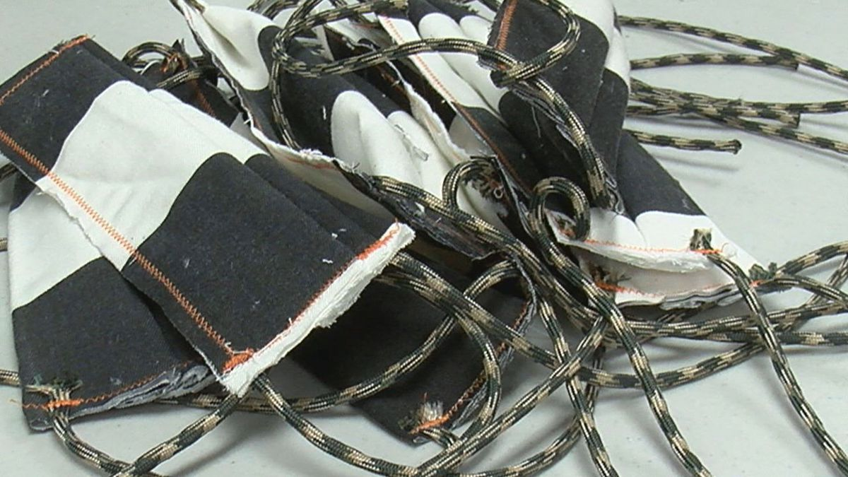 Nacogdoches County Jail inmates make protective masks in response to COVID-19
