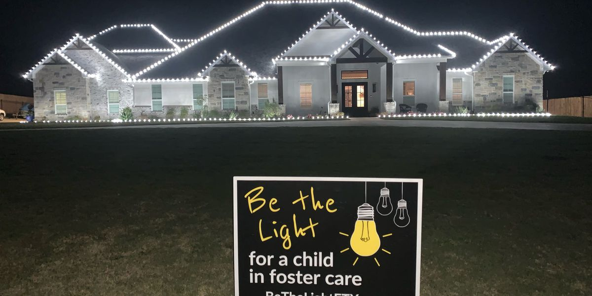 Be the Light: Christmas lights go up early to shine light on foster care crisis in East Texas