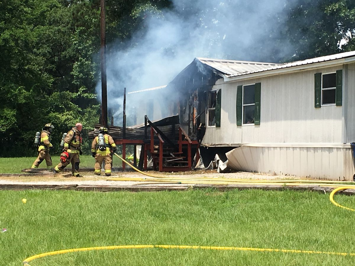 Crews responding to mobile home fire in Hudson