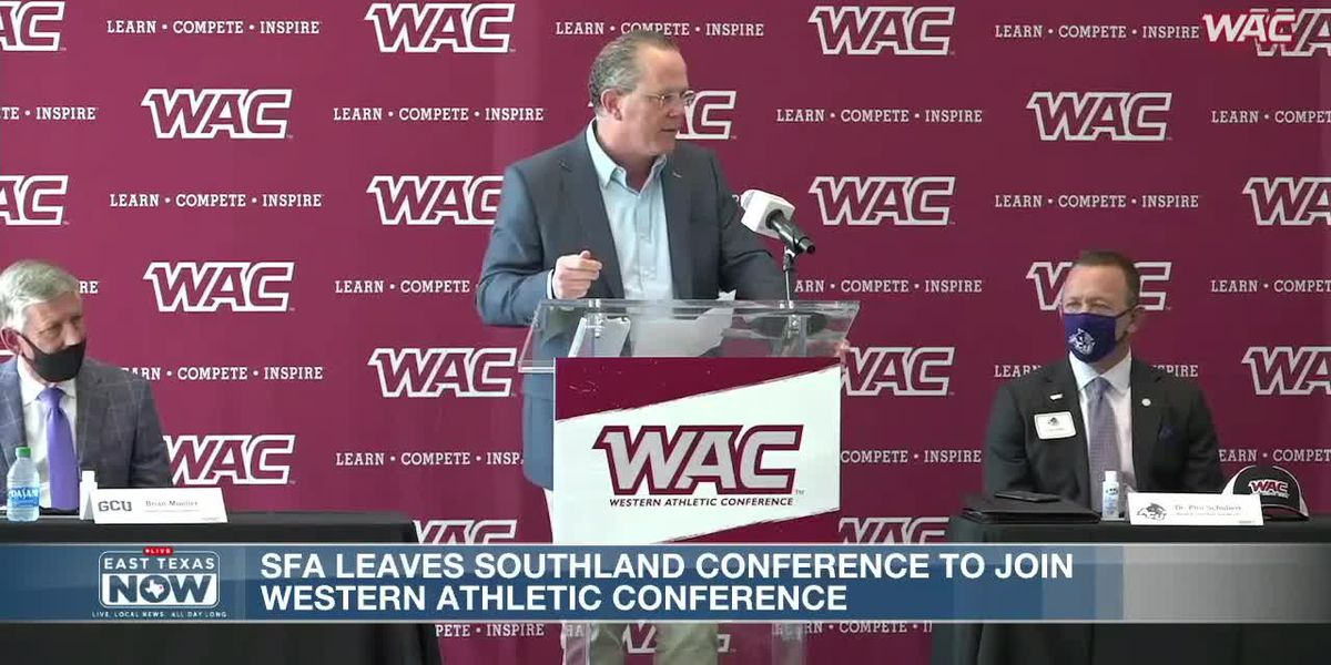 WATCH: WAC officially announces expansion involving SFA Athletics starting in July