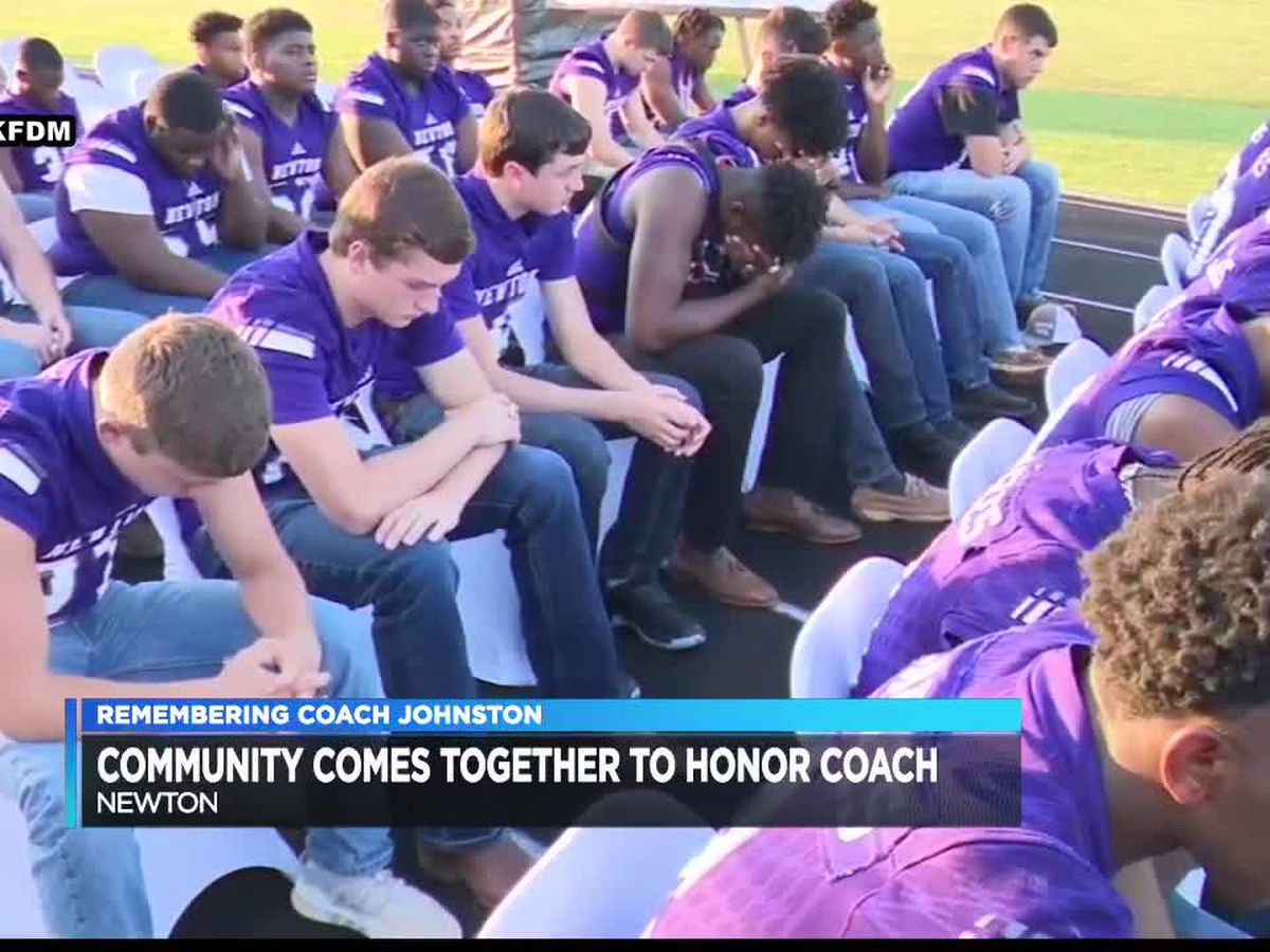 Newton community comes out to celebrate life of Coach W.T. Johnston