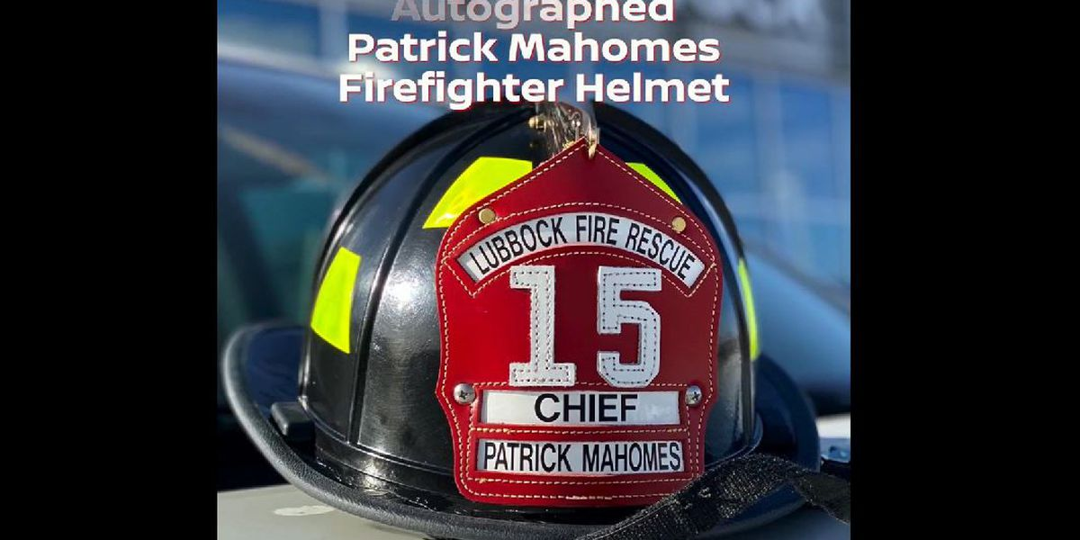 Bidding ends Sunday for autographed Mahomes firefighter helmet