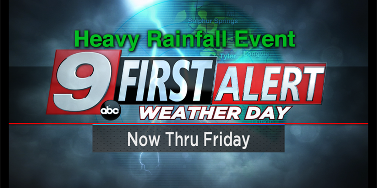 First Alert: More bouts of heavy rain to continue through Friday