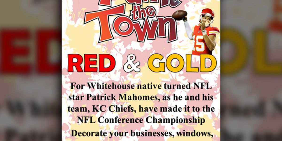 Whitehouse residents encouraged to cover city in red, gold for Patrick Mahomes and Chiefs