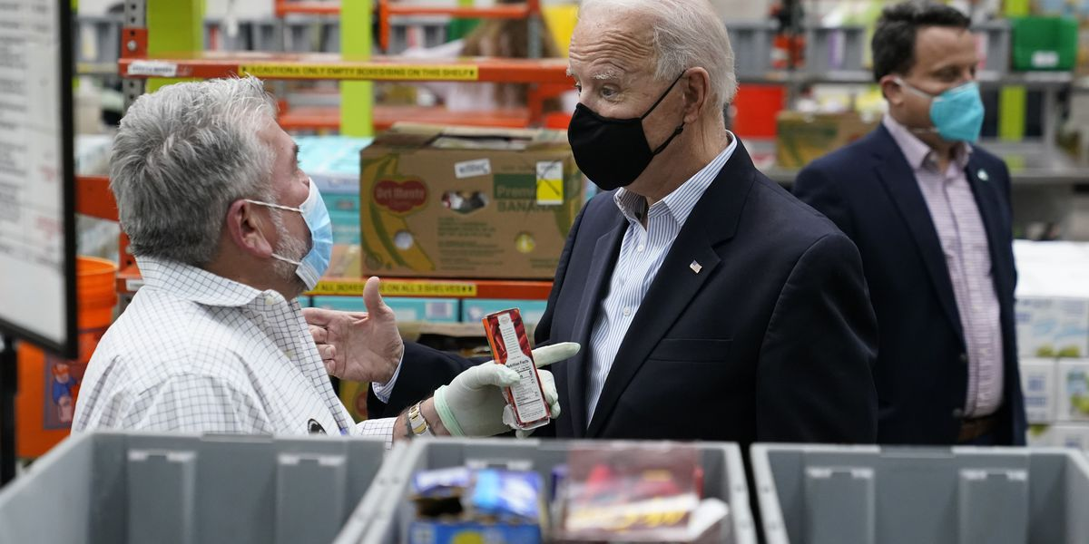 Biden surveys Texas weather damage, thanks emergency workers