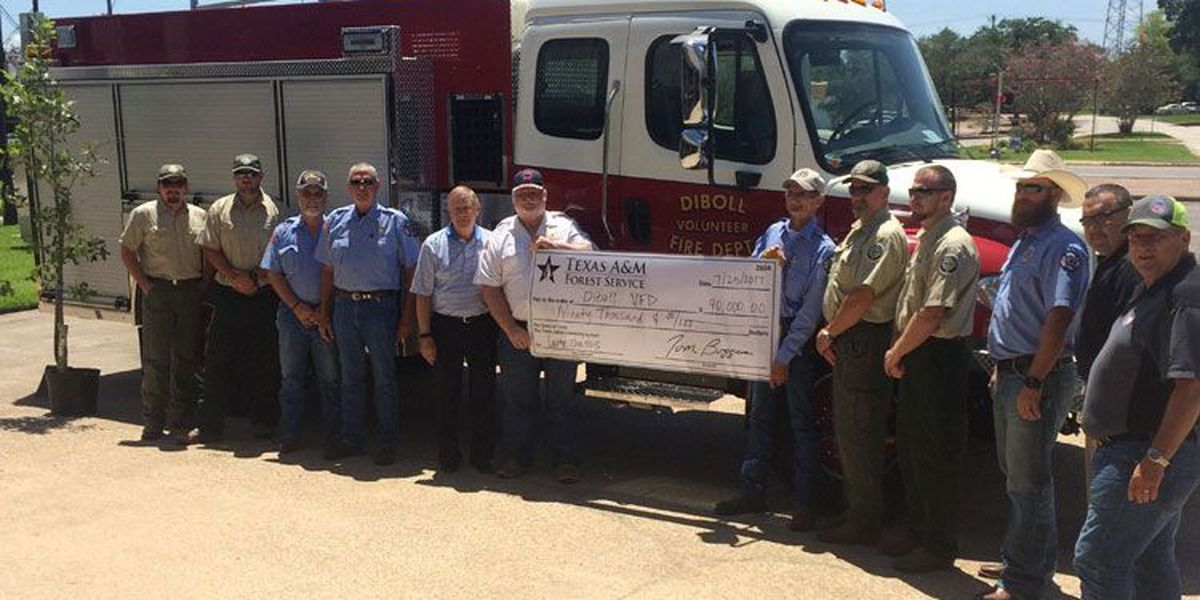 $90K grant from Texas A&M Forest Service helps Diboll VFD buy new brush truck