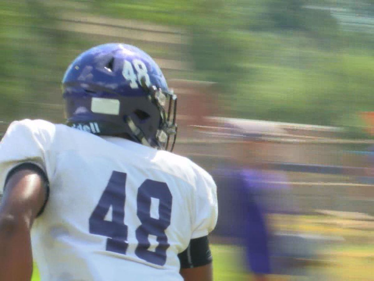 Double duty: Away from the gridiron, SFA freshman wears a different uniform