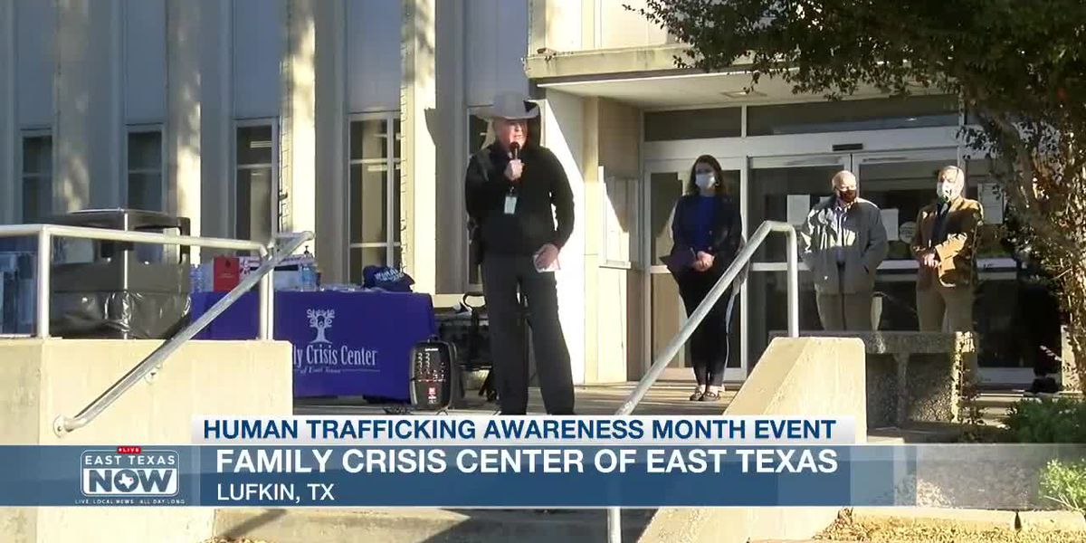 WATCH: Family Crisis Center holds Human Trafficking Awareness event at Angelina County Courthouse