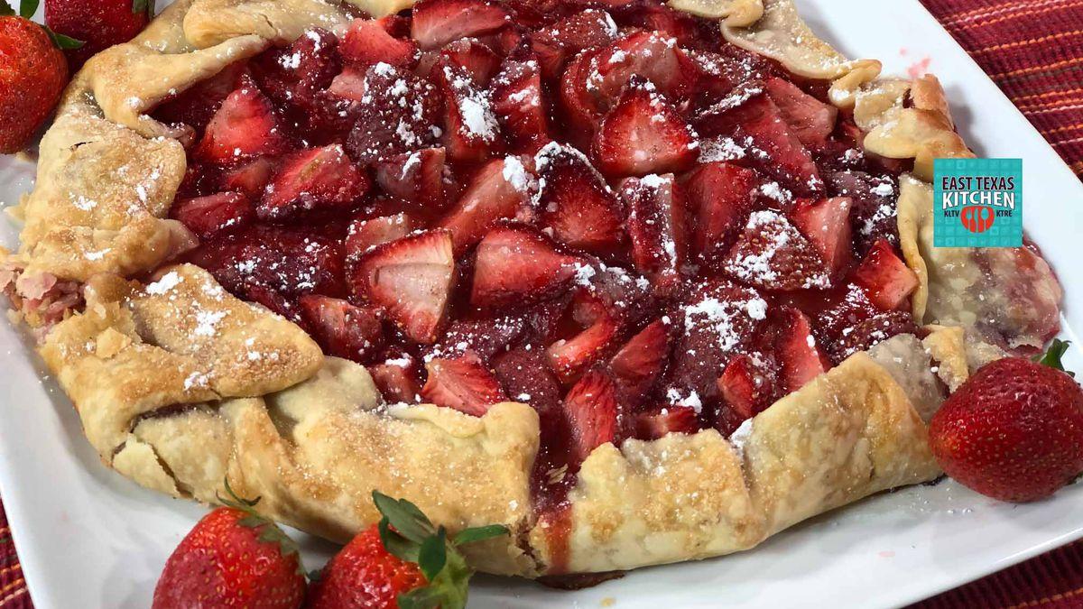 Springtime strawberry galette by Mama Steph