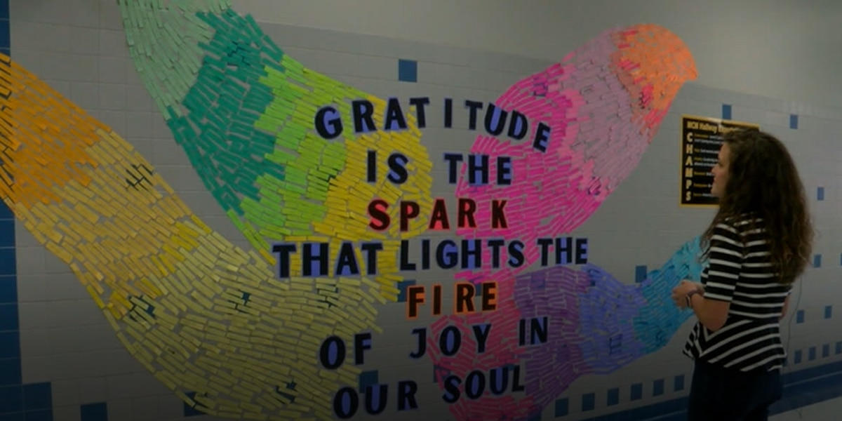 Nacogdoches mural shows middle schoolers more thankful than you may think