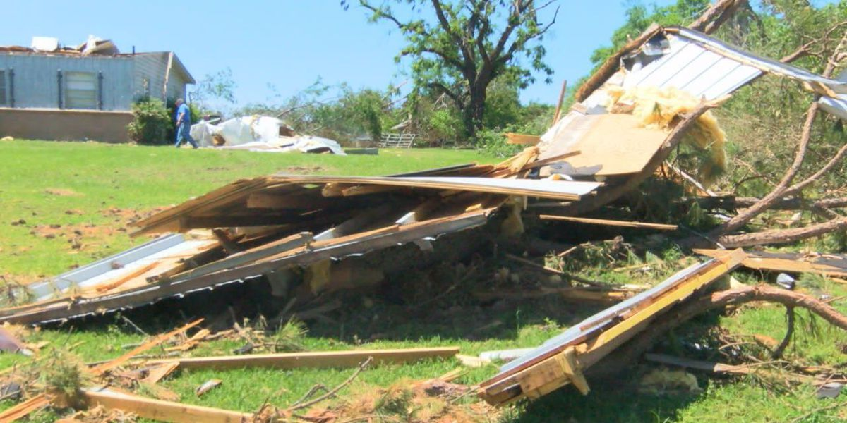 Cherokee County tornado victims continue clean up as Red Cross begins delivering donations