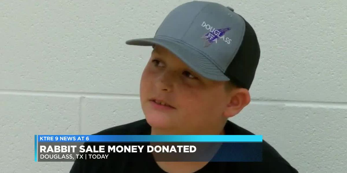 A Douglass fifth grader is providing a lesson of generosity which serves all ages
