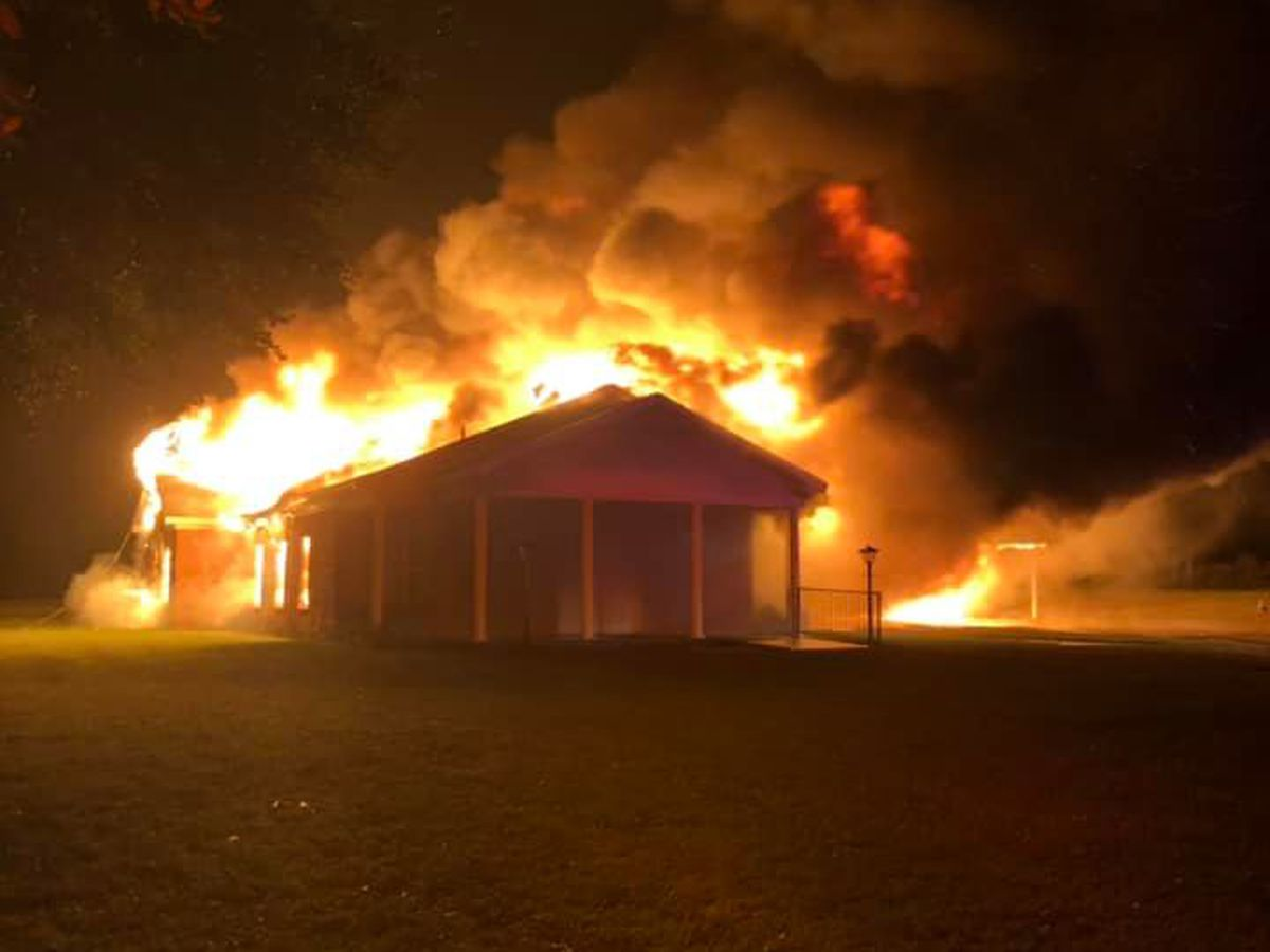 Fire officials say weather caused fire which destroyed Nacogdoches County church