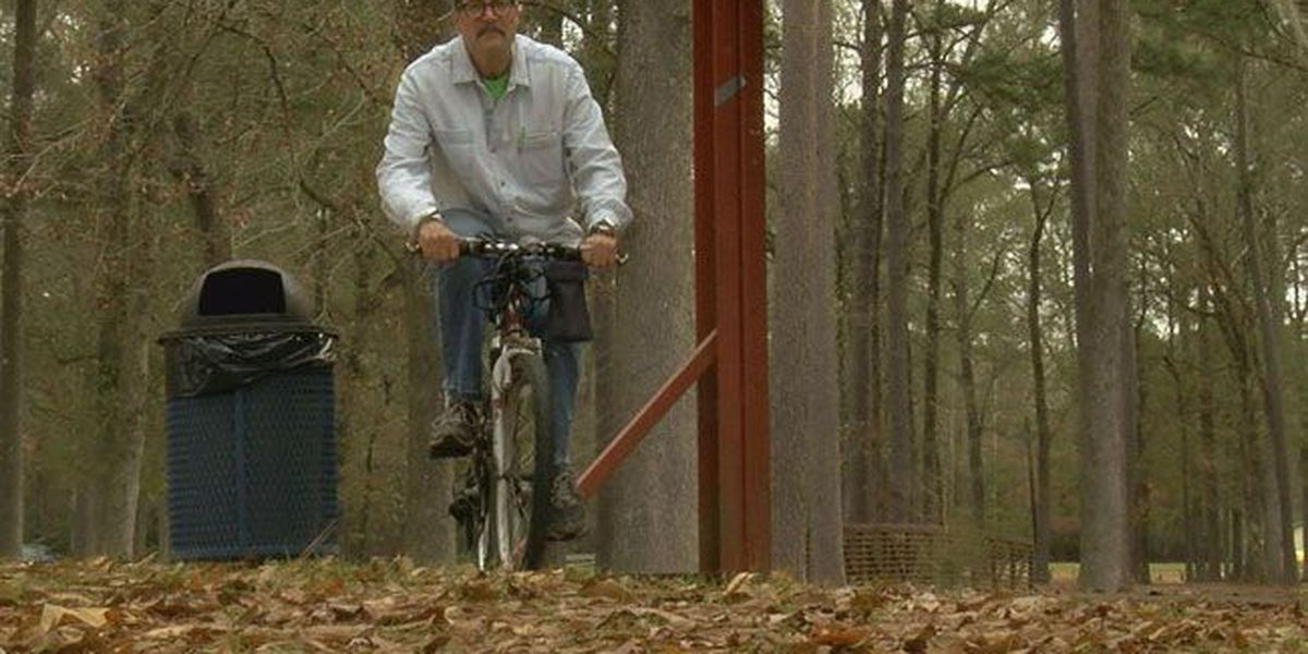 Lufkin homeless man staying optimistic after his bike was stolen