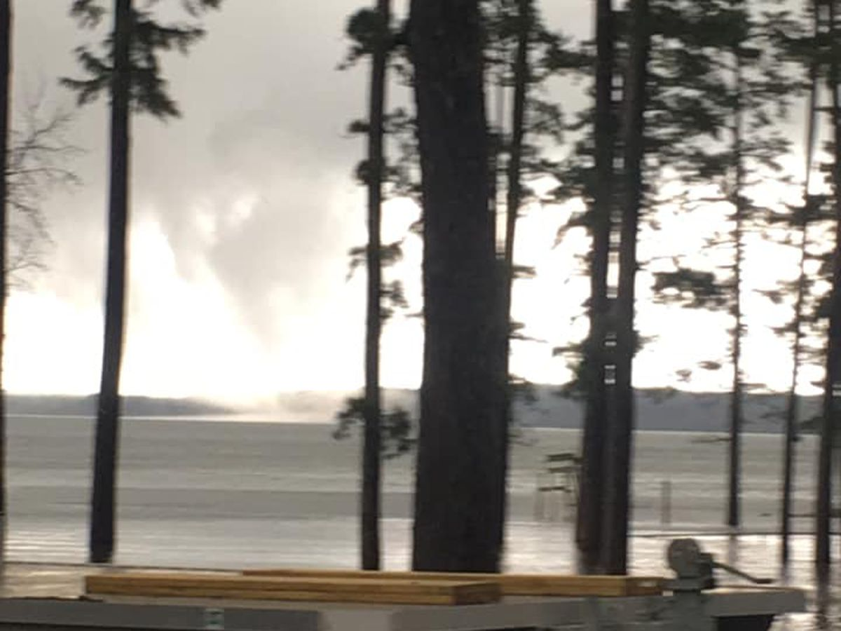 Possible waterspout spotted on Lake Sam Rayburn Saturday
