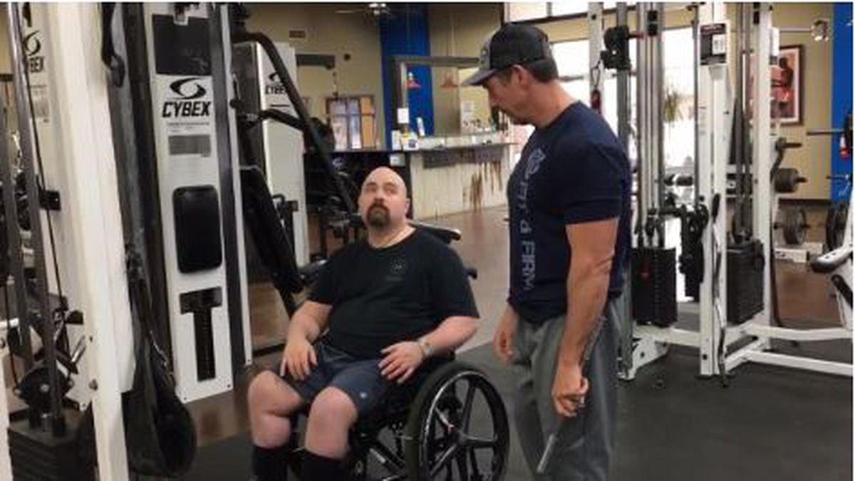 WEBXTRA: Physical therapy helping Nacogdoches man injured in wreck recover