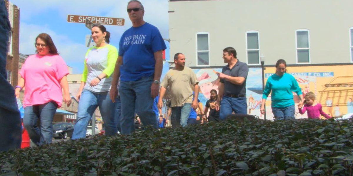 Angelina Co. employees kick off Walk Across Texas campaign