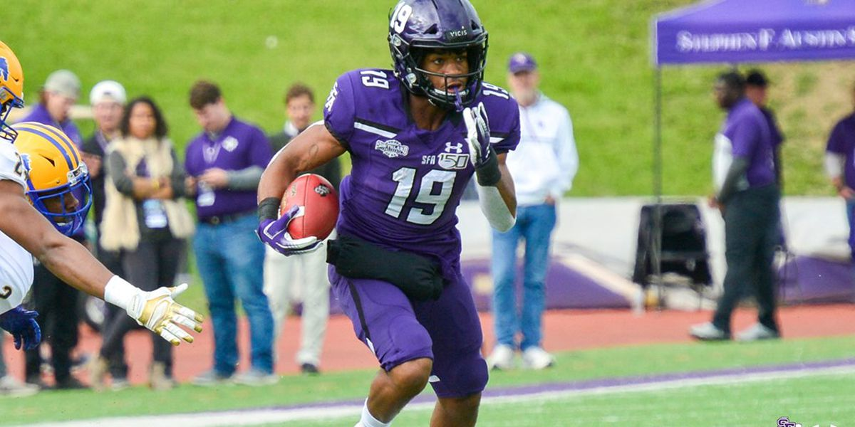 SFA's Xavier Gipson Named to STATS LLC Jerry Rice Award Watch List
