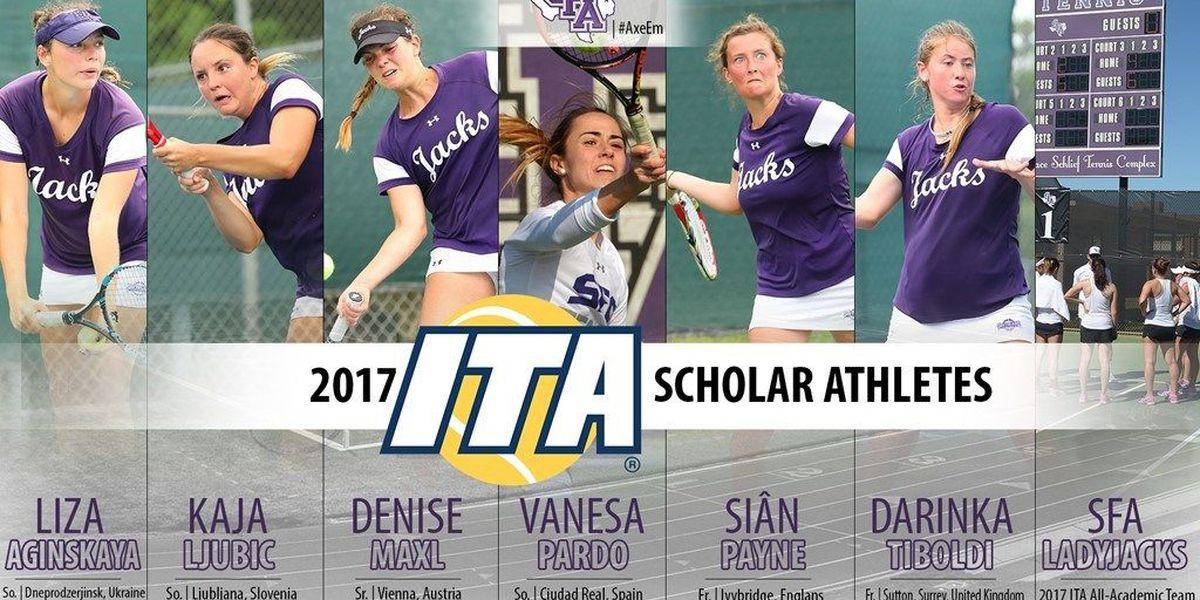 Six Ladyjacks named 2017 ITA scholar-athletes