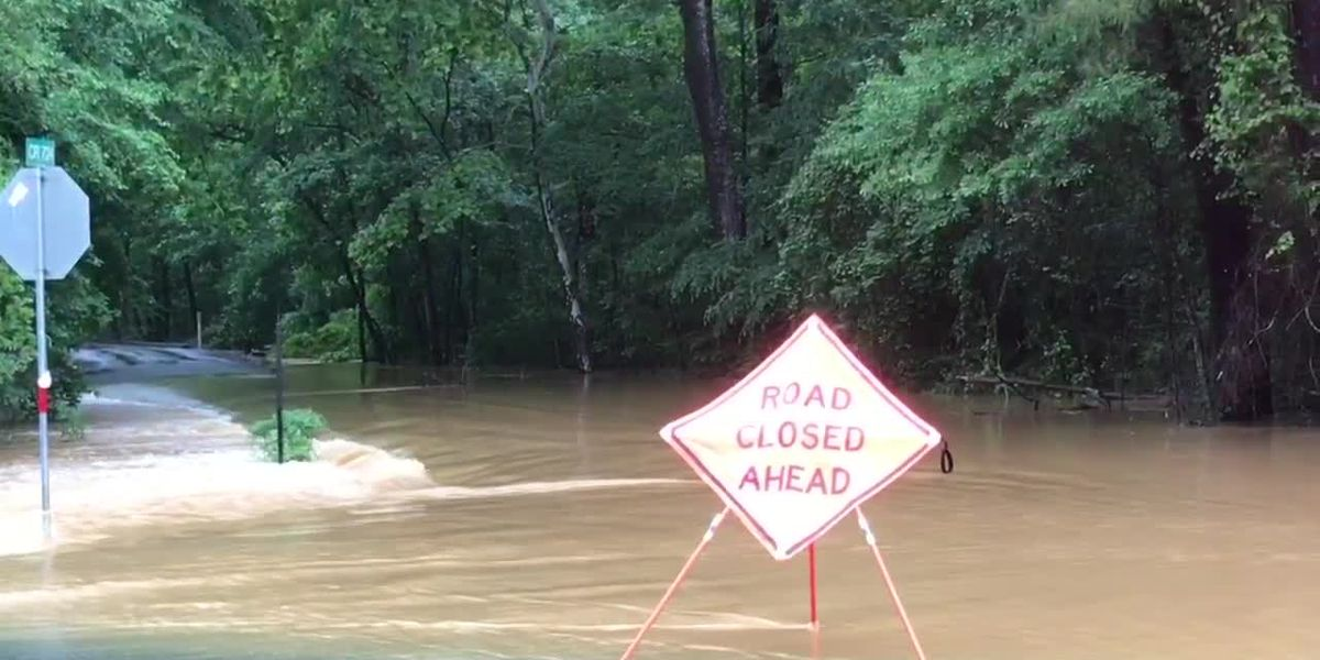 Creeks rushing, 30 roads still closed following heavy rains in Nacogdoches County