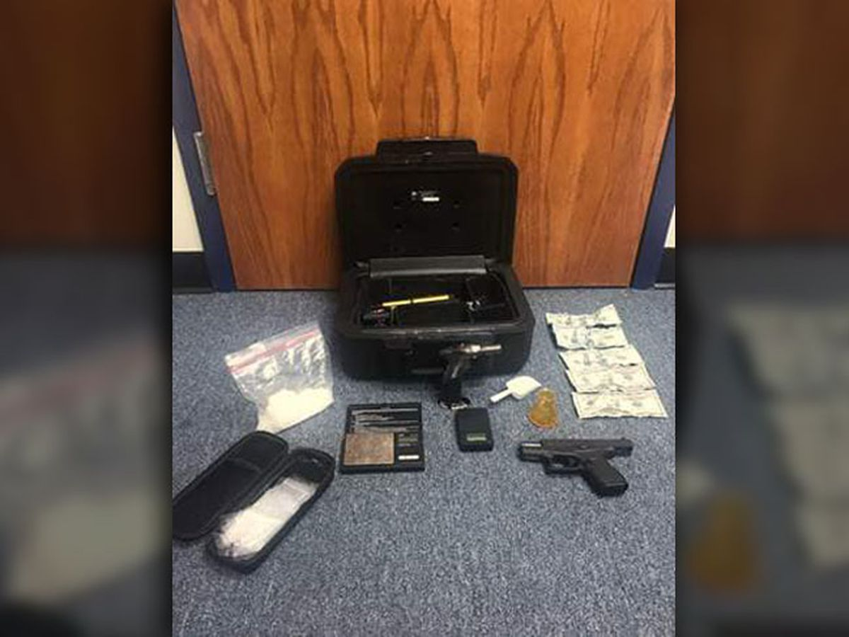 Angelina County traffic stop results in drug arrest, seizure of meth, Xanax, gun, safe