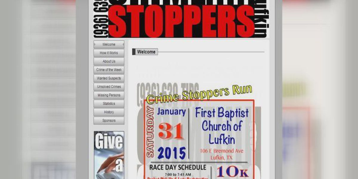 Lufkin Crime Stoppers does foot pursuit for good cause