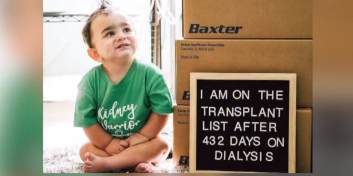 Family finds 2-year-old boy's kidney donor with Facebook post