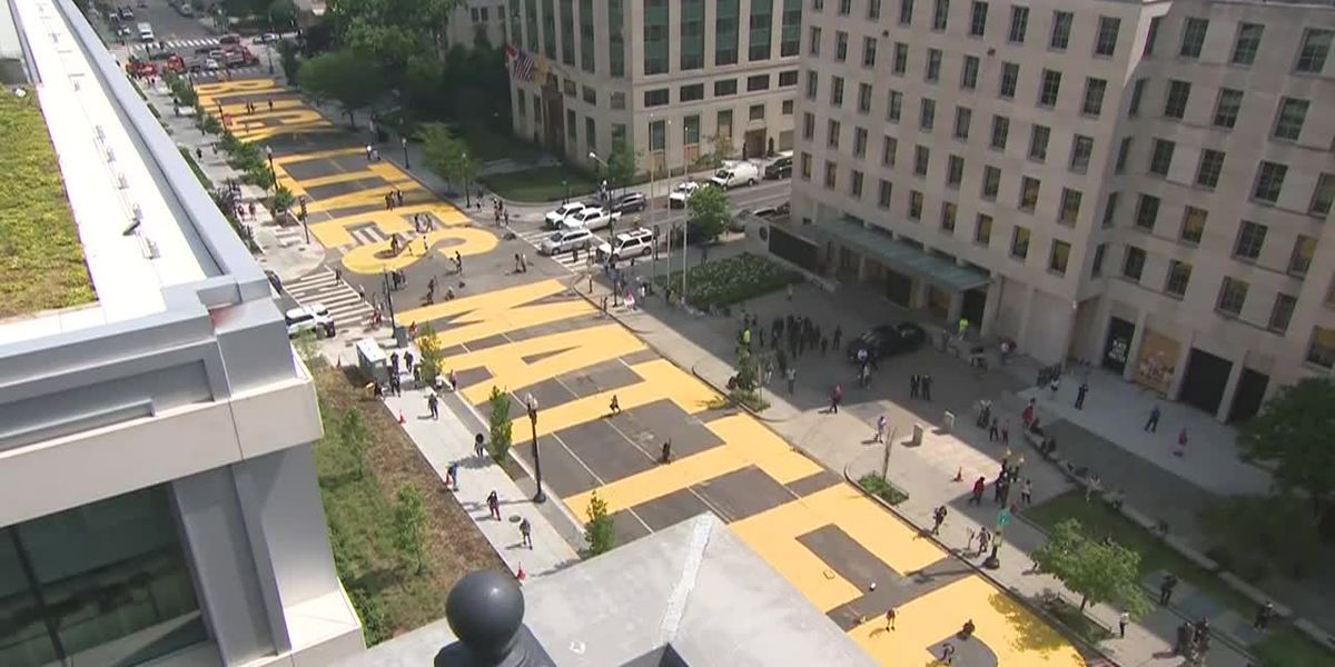 'Black Lives Matter' painted on D.C. street leading to White House