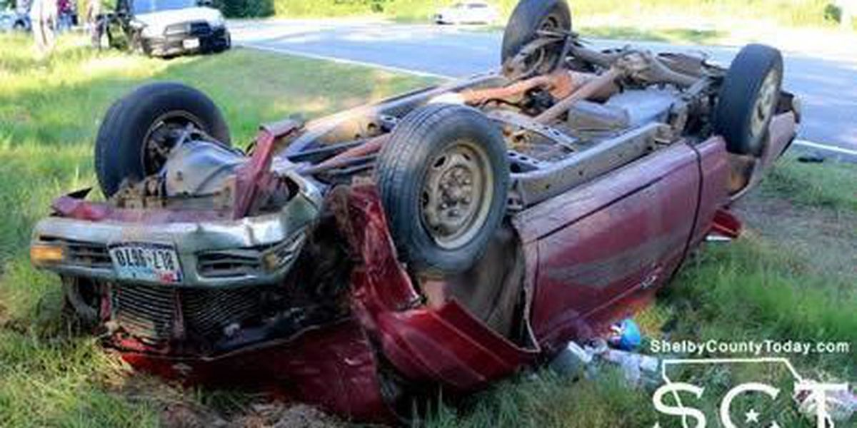 Joaquin woman taken to hospital after 1-vehicle rollover wreck on SH 7