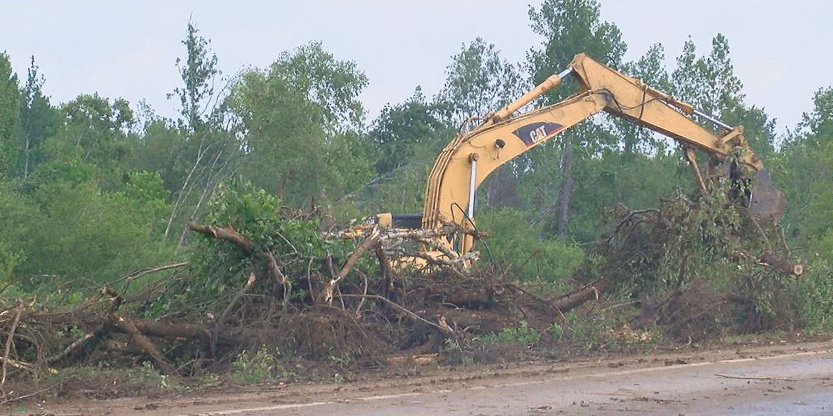 TxDOT officials continue to work and help with tornado debris clean up in Alto