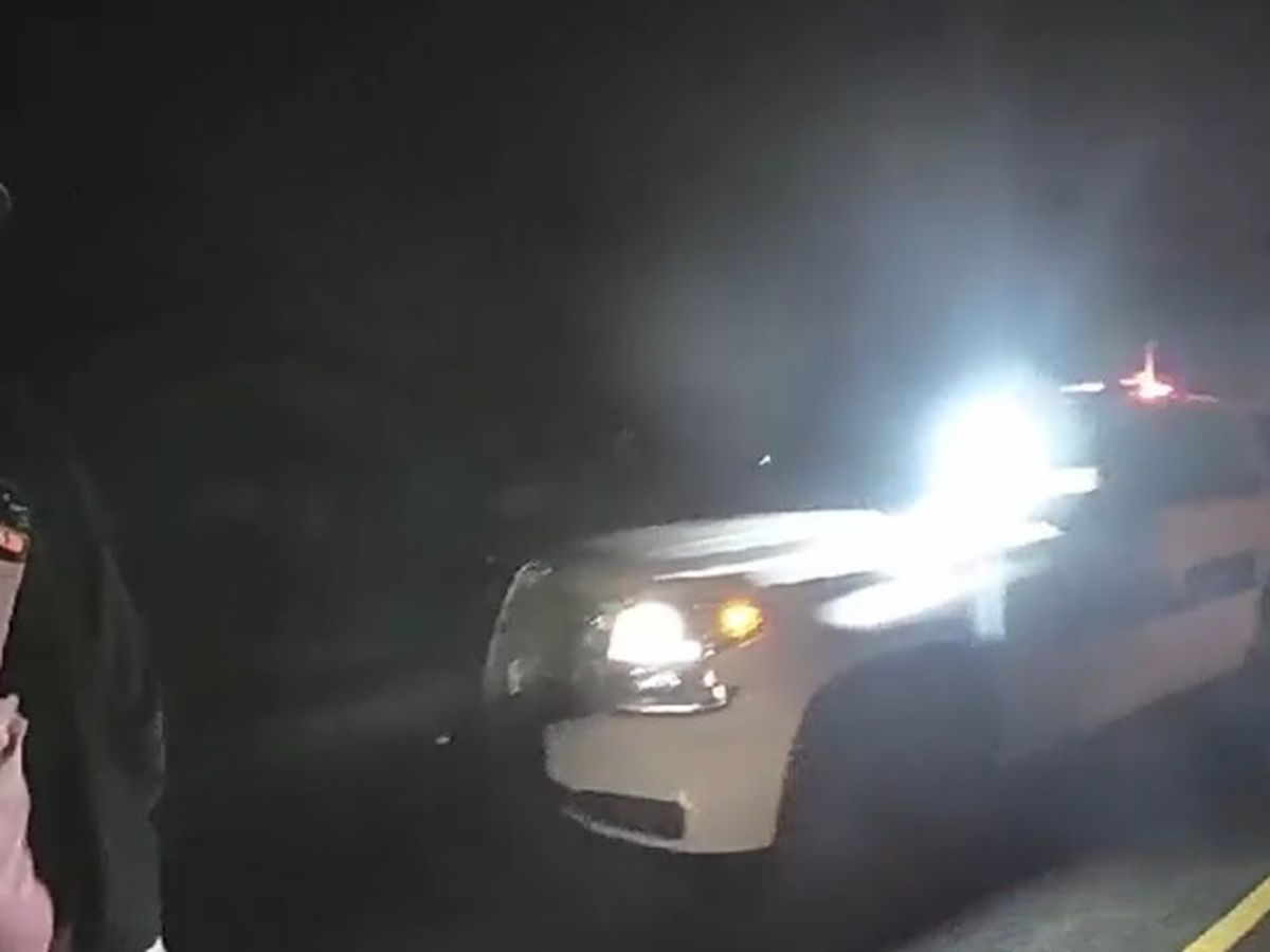BODYCAM: Lufkin officer's unit struck by inattentive driver while officer spoke about inattentive drivers