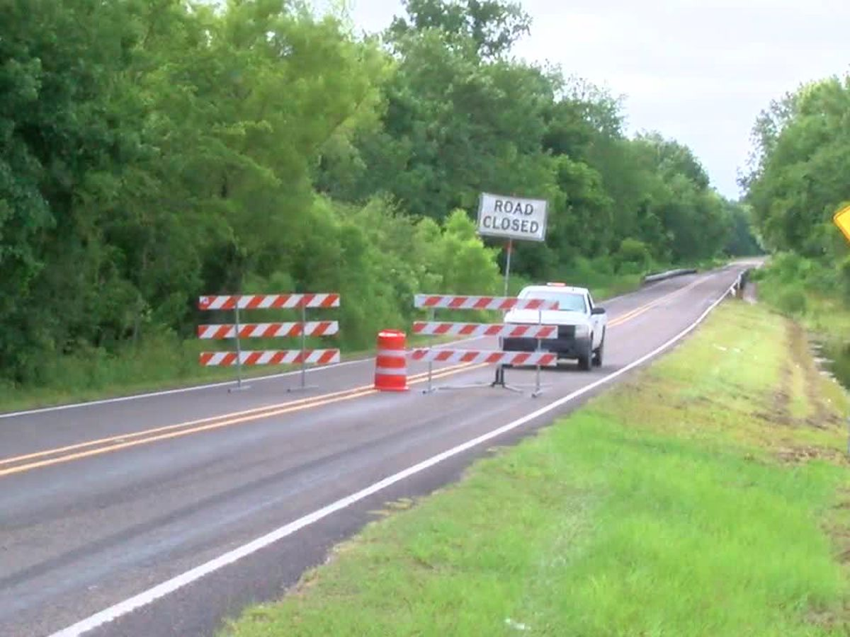 Parts of FM 2497, Cedar Creek Bridge in Angelina County shut down due to flooding
