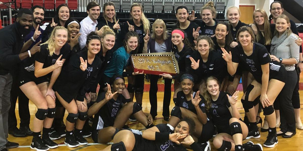 SFA Volleyball wins 10th conference title