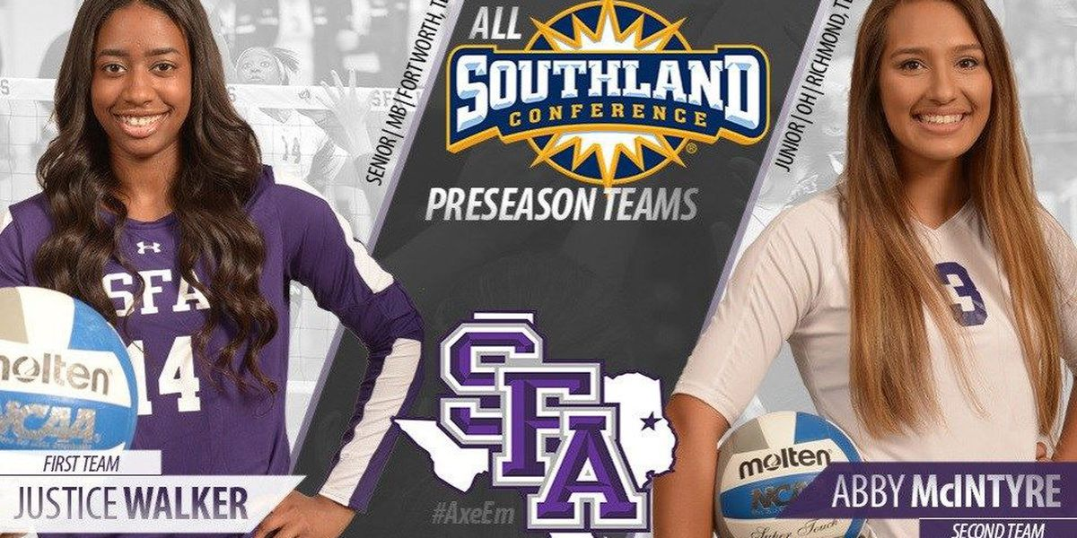 Walker and McIntyre land on Preseason All-Southland Conference Teams