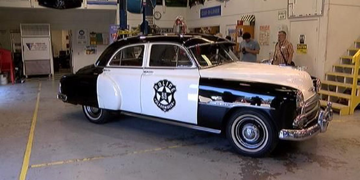It was just a 51 Chevy, but now it's an official police car