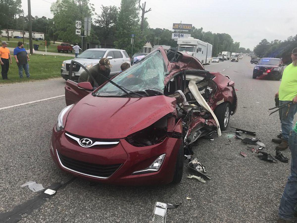 Teen injured in Corrigan two-vehicle wreck