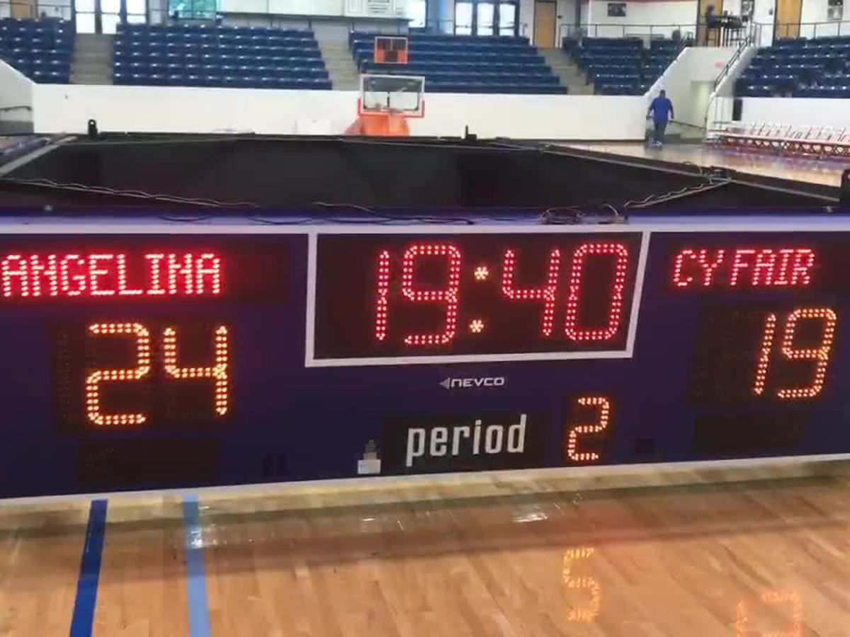 WEBXTRA: Angelina College receiving new scoreboard in Shands Gym