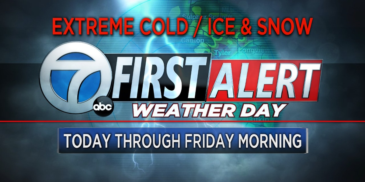 First Alert Weather Days extended through Friday morning due to additional ice, snow