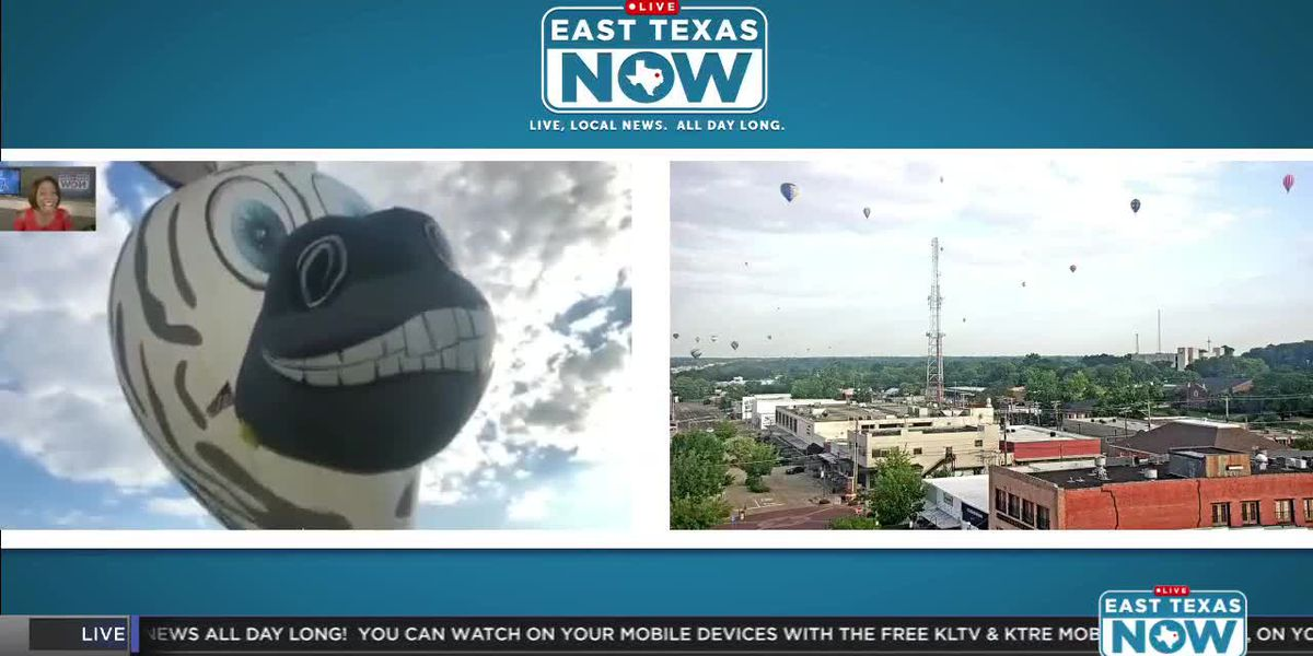 WATCH: Mr. Z the Zebra prepares for the Great Texas Balloon Race