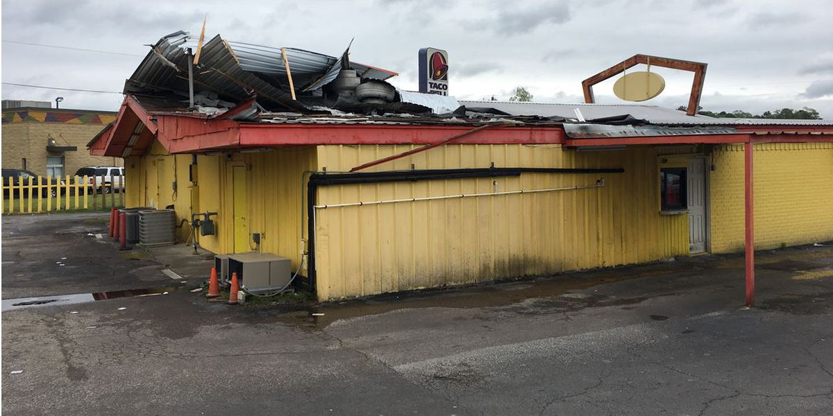 Lufkin Fire Department: Possible micro-burst of wind ripped part of restaurant's roof off
