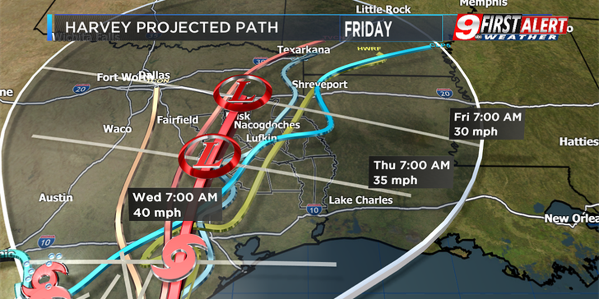 Flooding rains becoming more likely in East Texas this week