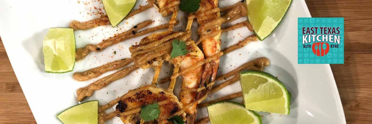 Shrimp Satay (Skewers) w/Peanut Sauce by Roast Social Kitchen