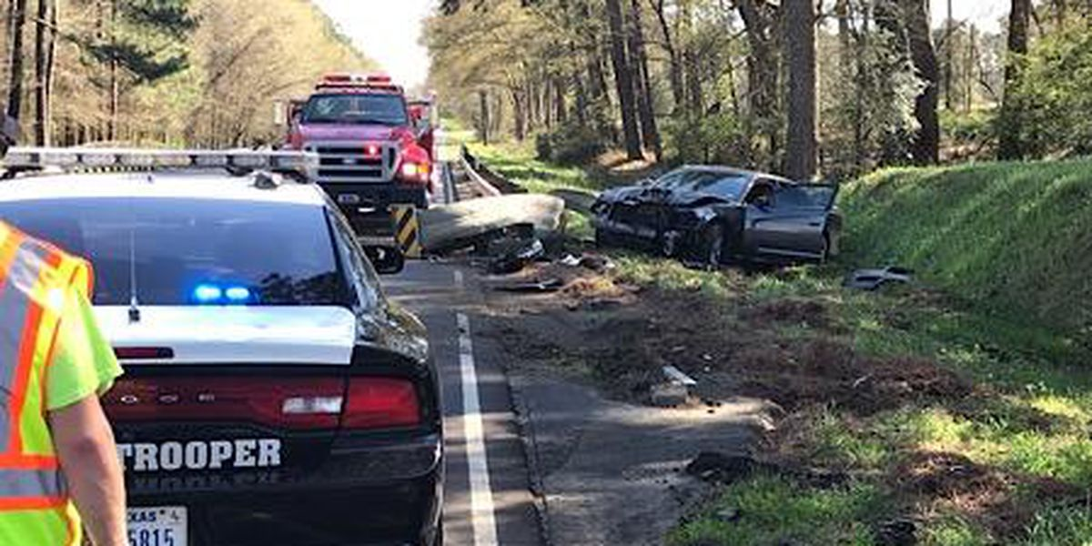 1 man taken to hospital after vehicle crashes into guardrail near Center