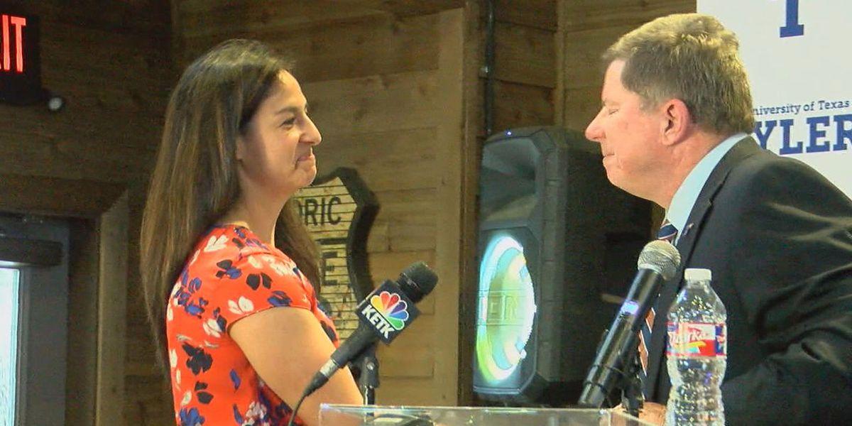 Former SFA assistant coach Rebecca Alvidrez introduced as new head coach for UT Tyler women's basketball