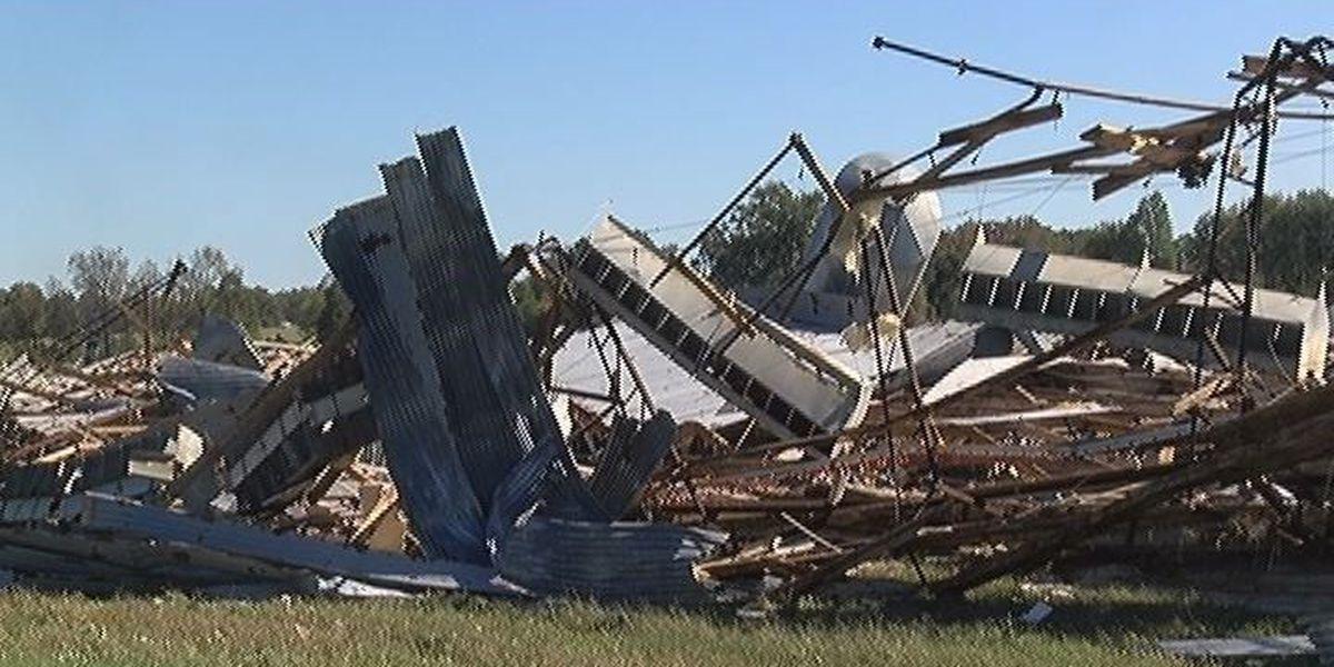 NWS: Straight-line winds, not tornado, destroyed Garrison barns